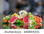 tuna tataki salad | Shutterstock . vector #640854331