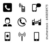 contact icons set. set of 9... | Shutterstock .eps vector #640858975