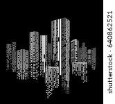 city scene on night time. city... | Shutterstock .eps vector #640862521