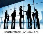 business group concept... | Shutterstock . vector #640863571