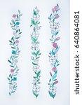 a sketch of three beautiful... | Shutterstock . vector #640864081