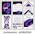 abstract vector layout... | Shutterstock .eps vector #640865965