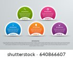 abstract options infographics... | Shutterstock .eps vector #640866607