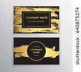 vector golden business card.... | Shutterstock .eps vector #640875274