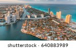 causeway  river and skyline of... | Shutterstock . vector #640883989