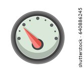 speedometer icon | Shutterstock .eps vector #640886245