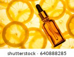 citrus lemon essential oil ... | Shutterstock . vector #640888285