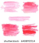 hand drawn pink watercolor... | Shutterstock .eps vector #640893514