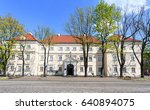 Small photo of Historic building in Lowicz built in years 1689 to 1730 acc. Tylman's Gameren project. Initially, there was a seminar, then others as a school, a prison, a museum, etc