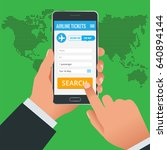 airline tickets booking online... | Shutterstock . vector #640894144