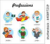 professions. set of profession...   Shutterstock .eps vector #640897219