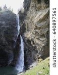 """Small photo of Famous Reichenbach Waterfalls in Meiringen, Switzerland. It was the location of the final physical altercation between Sherlock Holmes with the criminal Professor Moriarty in """"The Final Problem"""""""