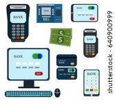 money  atm   cash machine...   Shutterstock .eps vector #640900999