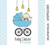 Baby Shower Card. Baby Boy