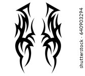 tribal pattern tattoo vector... | Shutterstock .eps vector #640903294