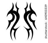 tribal tattoo art designs.... | Shutterstock .eps vector #640903339