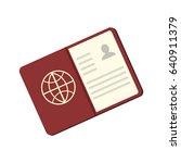 passport icon | Shutterstock .eps vector #640911379