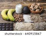 magnesium food | Shutterstock . vector #640915867