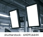 blank mock up light box... | Shutterstock . vector #640916644