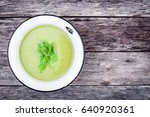 homemade cream soup with... | Shutterstock . vector #640920361
