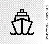 ship icon flat. | Shutterstock .eps vector #640923871
