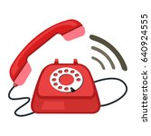 24 7  old phone service | Shutterstock .eps vector #640924555