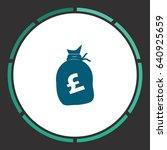money bag   pound gbp. flat...