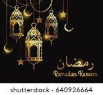 ramadan kareem. design... | Shutterstock .eps vector #640926664