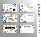 business cards   vector... | Shutterstock .eps vector #640929499
