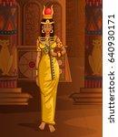 vector design of egyptian... | Shutterstock .eps vector #640930171