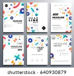 presentation booklet covers  ... | Shutterstock .eps vector #640930879