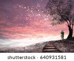 fantasy illustration with... | Shutterstock . vector #640931581