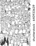 illustration of protesting... | Shutterstock .eps vector #640933639