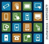 smartphone icons set. set of 16 ... | Shutterstock .eps vector #640933879