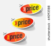 half  hot and low price tags.... | Shutterstock .eps vector #64093588