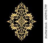 golden vector pattern on a... | Shutterstock .eps vector #640941799