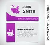 business card print template... | Shutterstock .eps vector #640945861