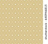 geometric dotted vector golden... | Shutterstock .eps vector #640946815