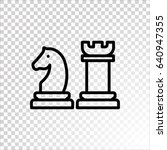 chess icon flat. | Shutterstock .eps vector #640947355