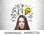 close up of a young woman s... | Shutterstock . vector #640951735