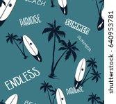 hawaii endless paradise ... | Shutterstock .eps vector #640953781