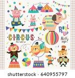 set of circus cartoon animals | Shutterstock .eps vector #640955797