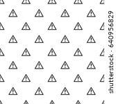 hazard warning attention sign... | Shutterstock .eps vector #640956829