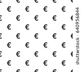 euro sign seamless pattern ... | Shutterstock .eps vector #640956844