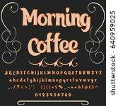 font script typeface vector... | Shutterstock .eps vector #640959025