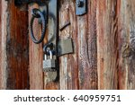 Closed Old Rusty Lock On A...