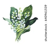 Watercolor Lily Of The Valley...