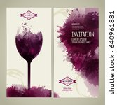 invitation template for event... | Shutterstock .eps vector #640961881