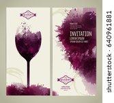 invitation template for event... | Shutterstock .eps vector #640961881