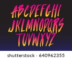 retro futurism style font. | Shutterstock .eps vector #640962355
